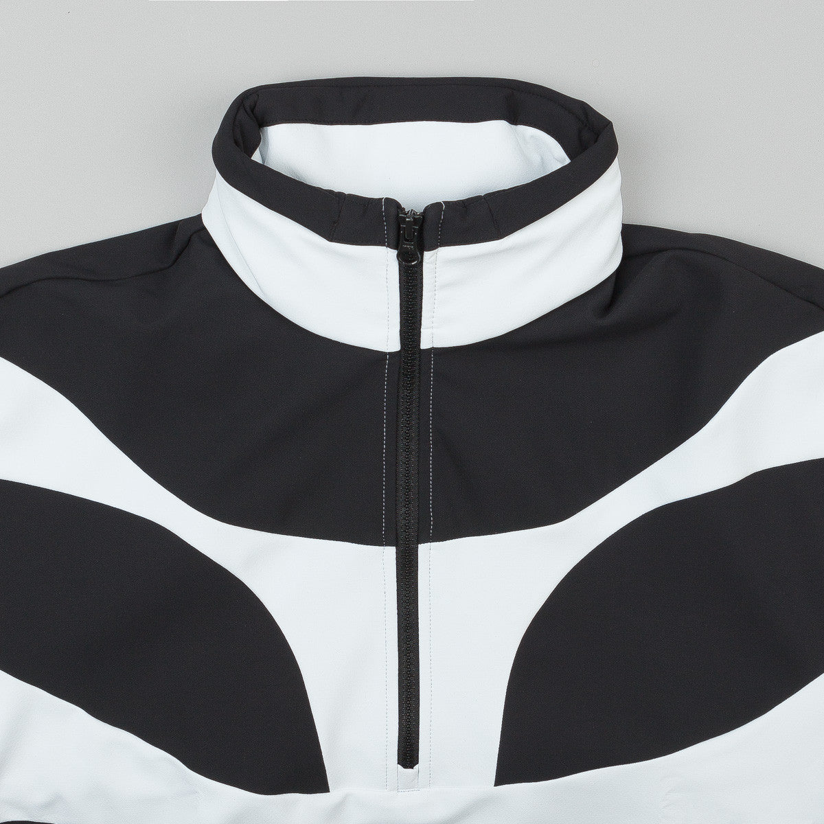 Adidas x Palace Heavy Half Zip Jacket - White /  Black