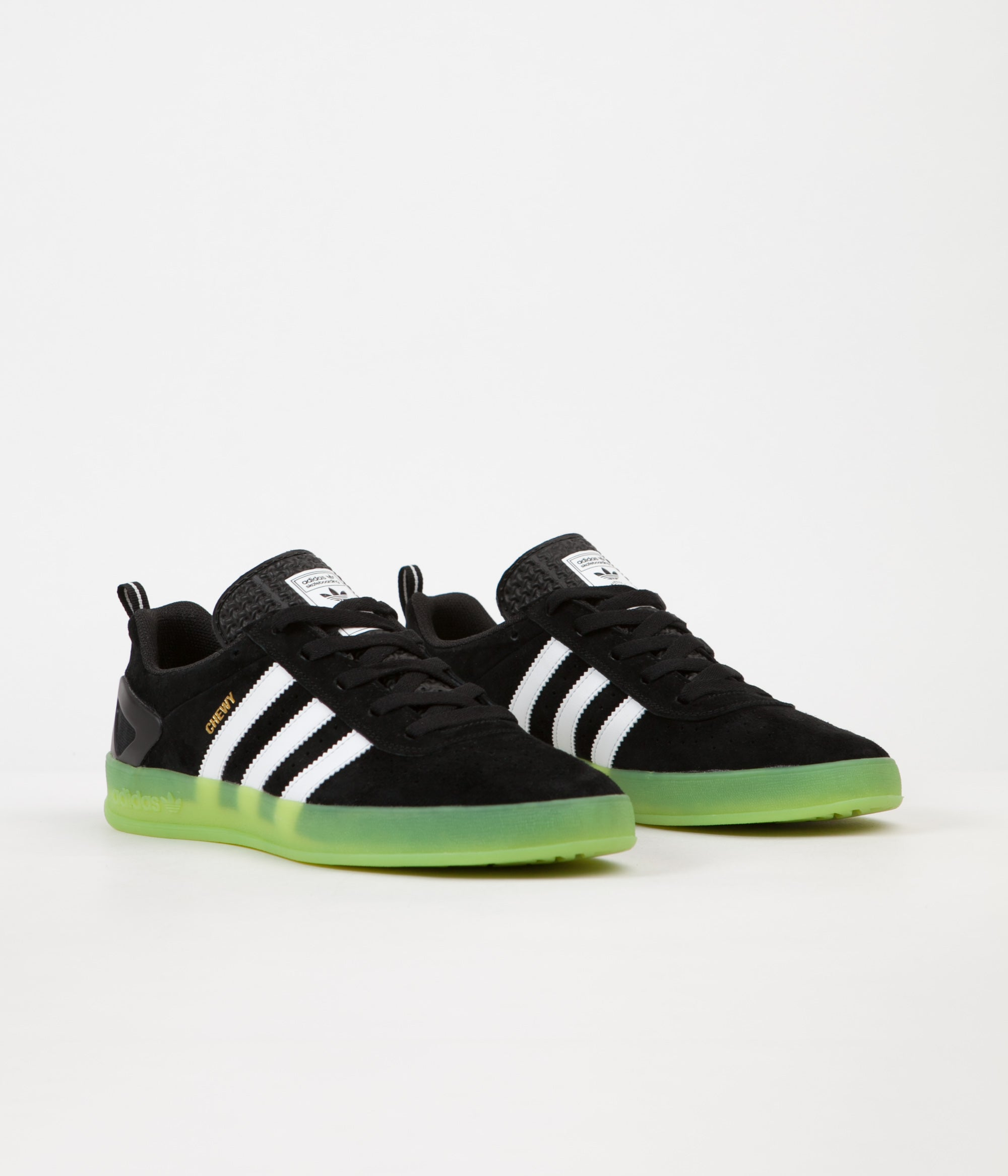... Green Adidas x Palace Pro 'Chewy' Shoes - Black / White ...