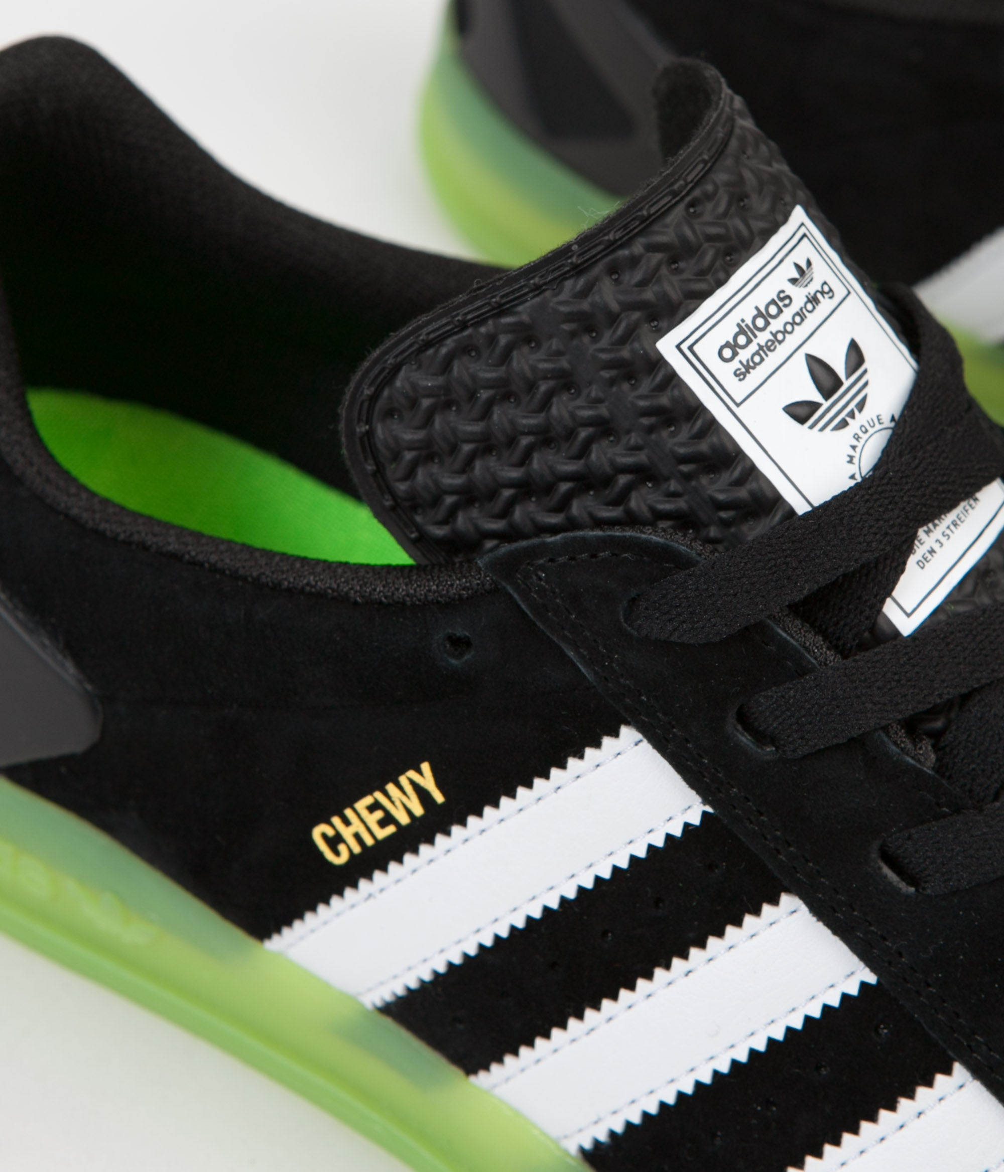 Adidas x Palace Pro  Chewy  Shoes - Black   White   Green  484bec9b9e12