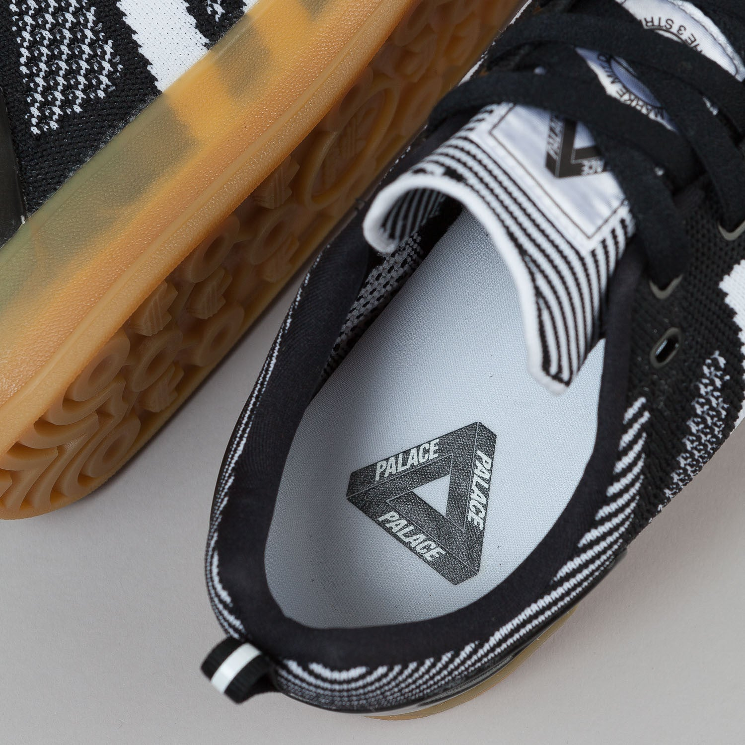 Adidas X Palace Pro Primeknit Shoes - Black / White / Gum