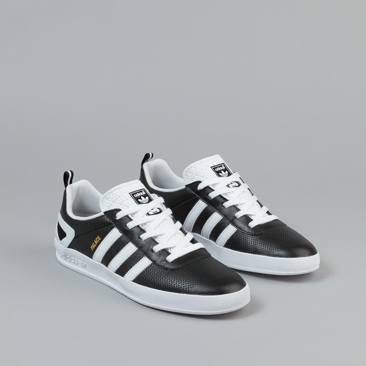 ... Adidas X Palace Pro Shoes - Black / White / Gold ...