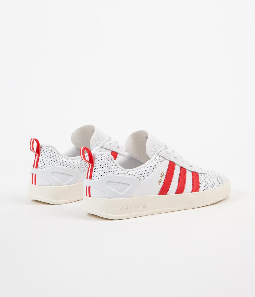 Adidas X Palace Pro Shoes - White / Red / Gold