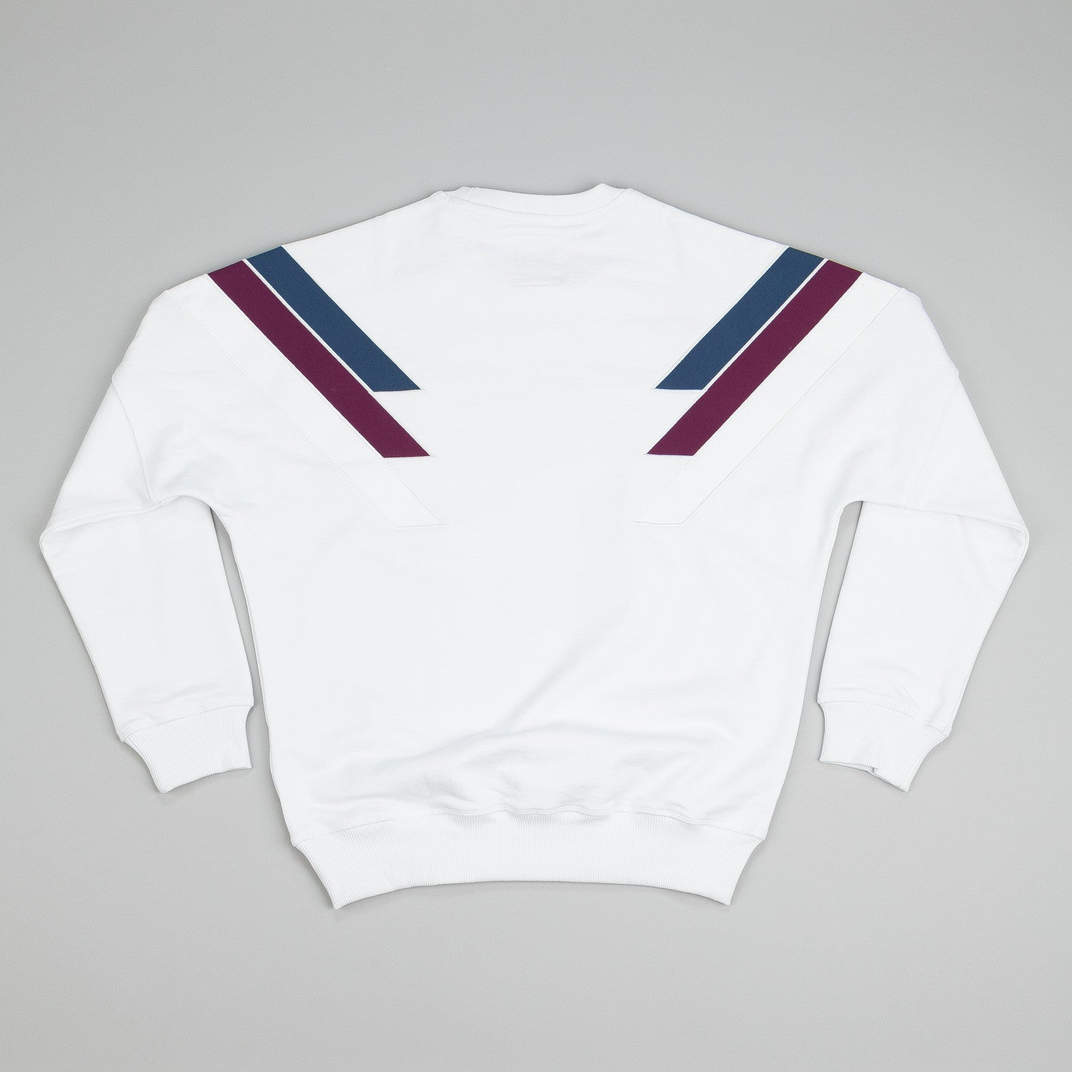 Adidas X Palace Stripe Crew Neck Sweatshirt White