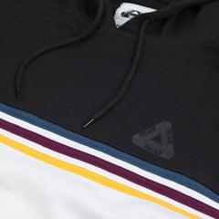 Adidas X Palace Stripe Hooded Sweatshirt White / Black