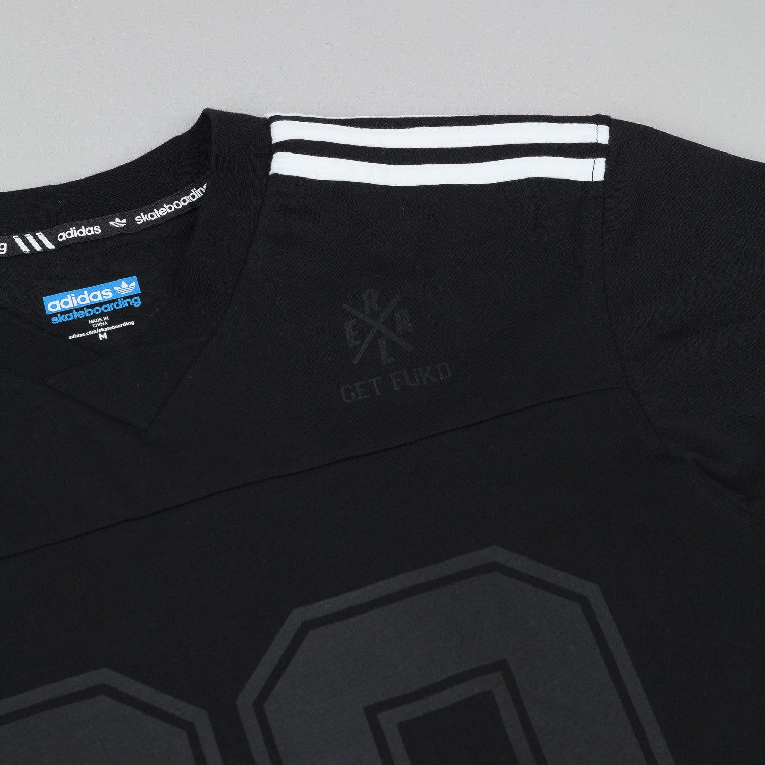 Adidas X Real Jake Short Sleeve V-Neck Jersey - Black