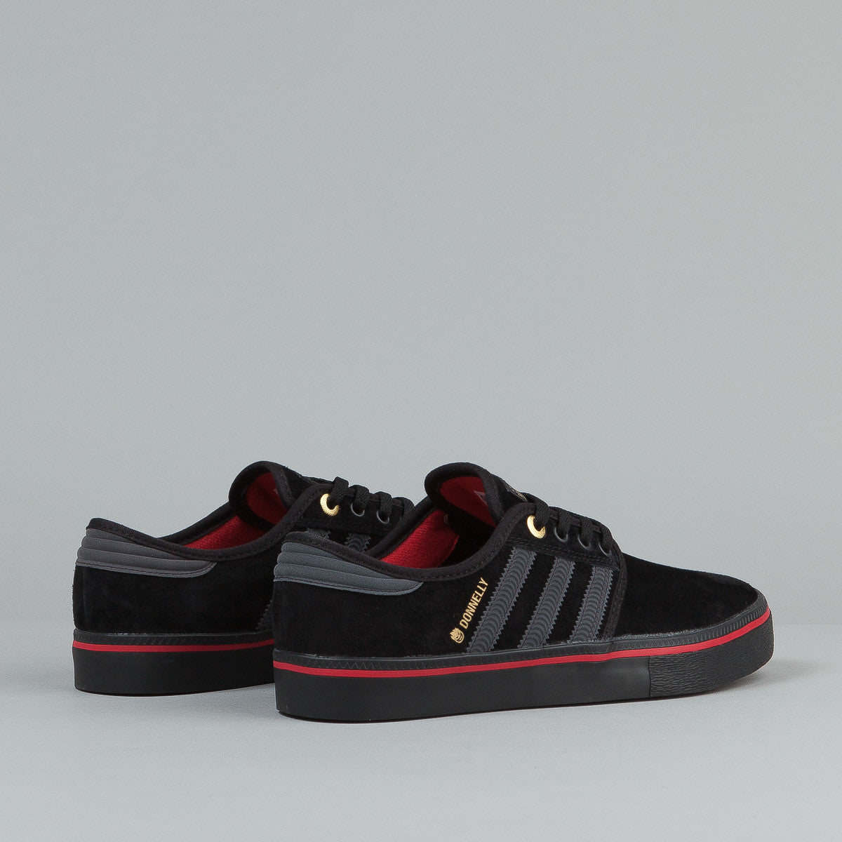 Adidas X Spitfire Seeley ADV Shoes - Black / Carbon / Red
