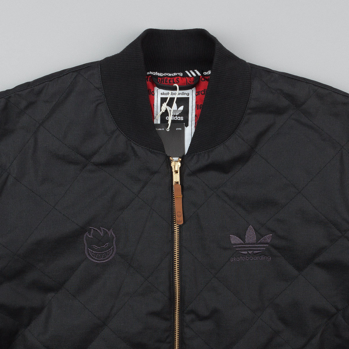 Adidas X Spitfire Silas Quilted Jacket - Black