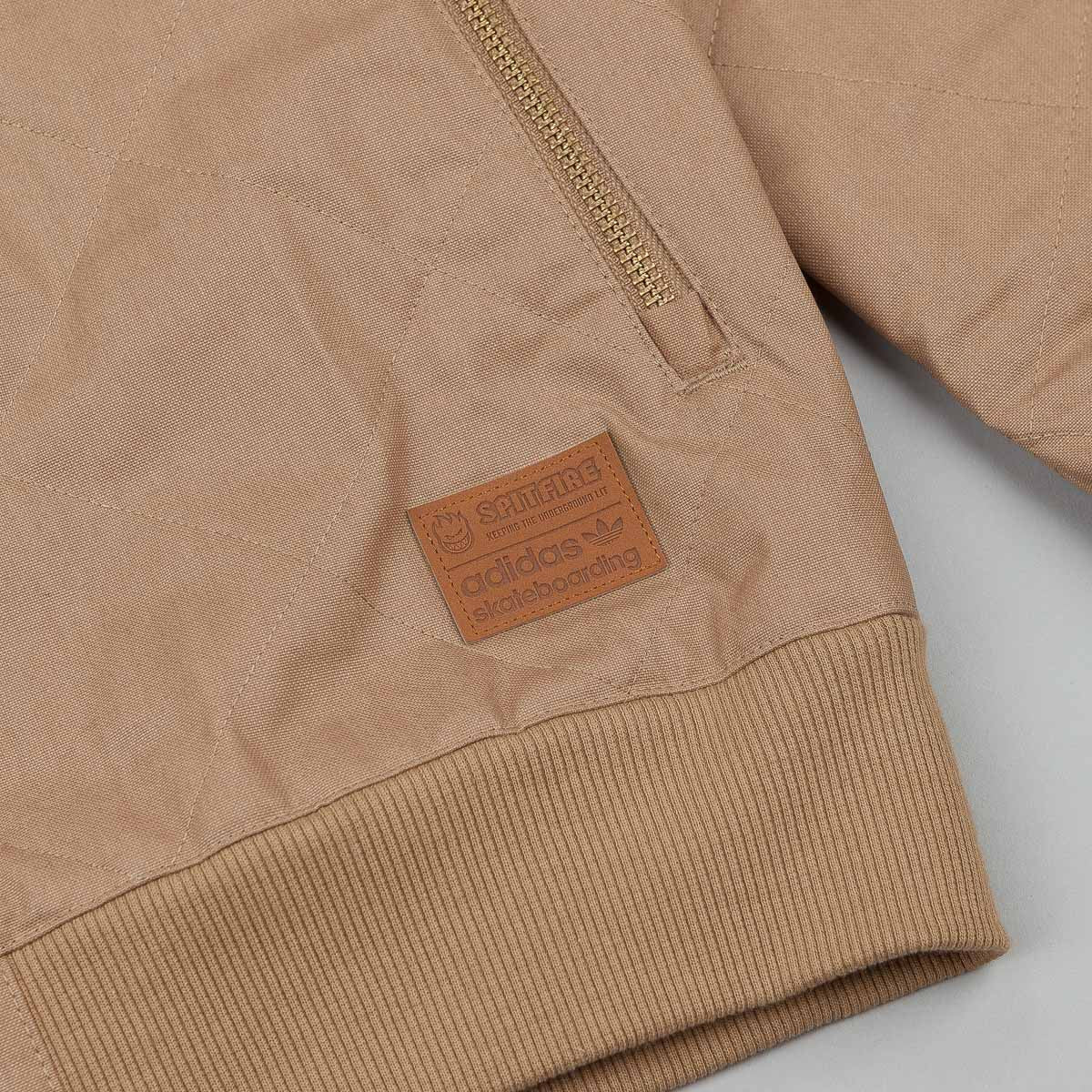 Adidas X Spitfire Silas Quilted Jacket - Cardboard