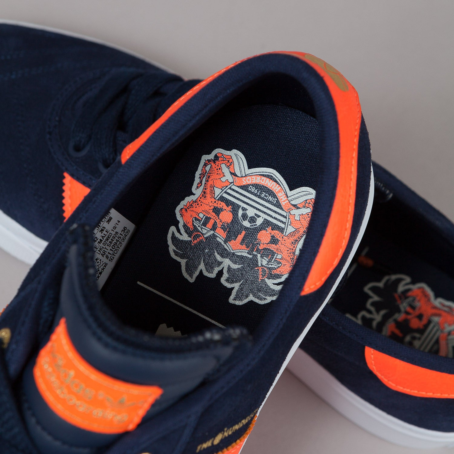 Adidas X The Hundreds Adi-Ease Shoes - Collegiate Navy / Orange / White