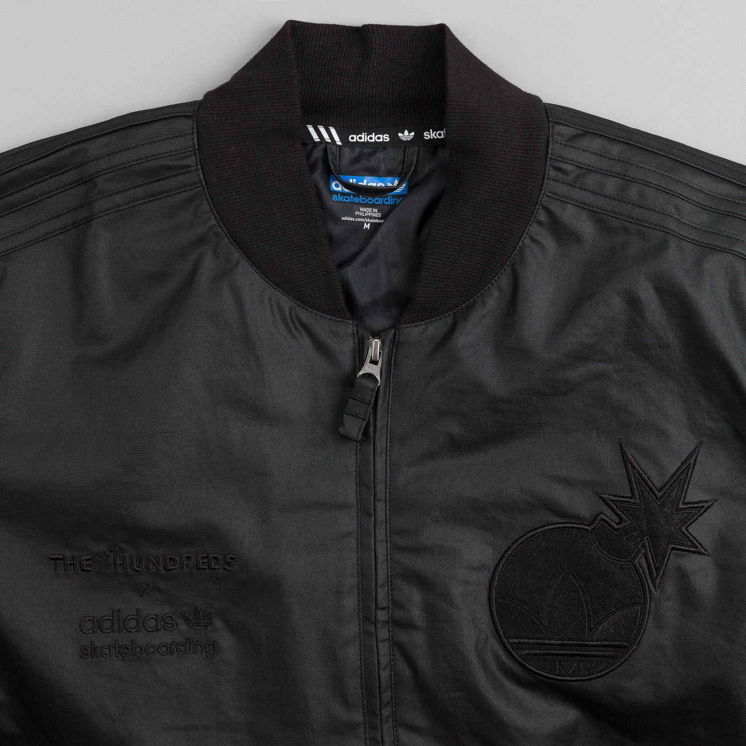 Adidas X The Hundreds Waxed Track Jacket - Black