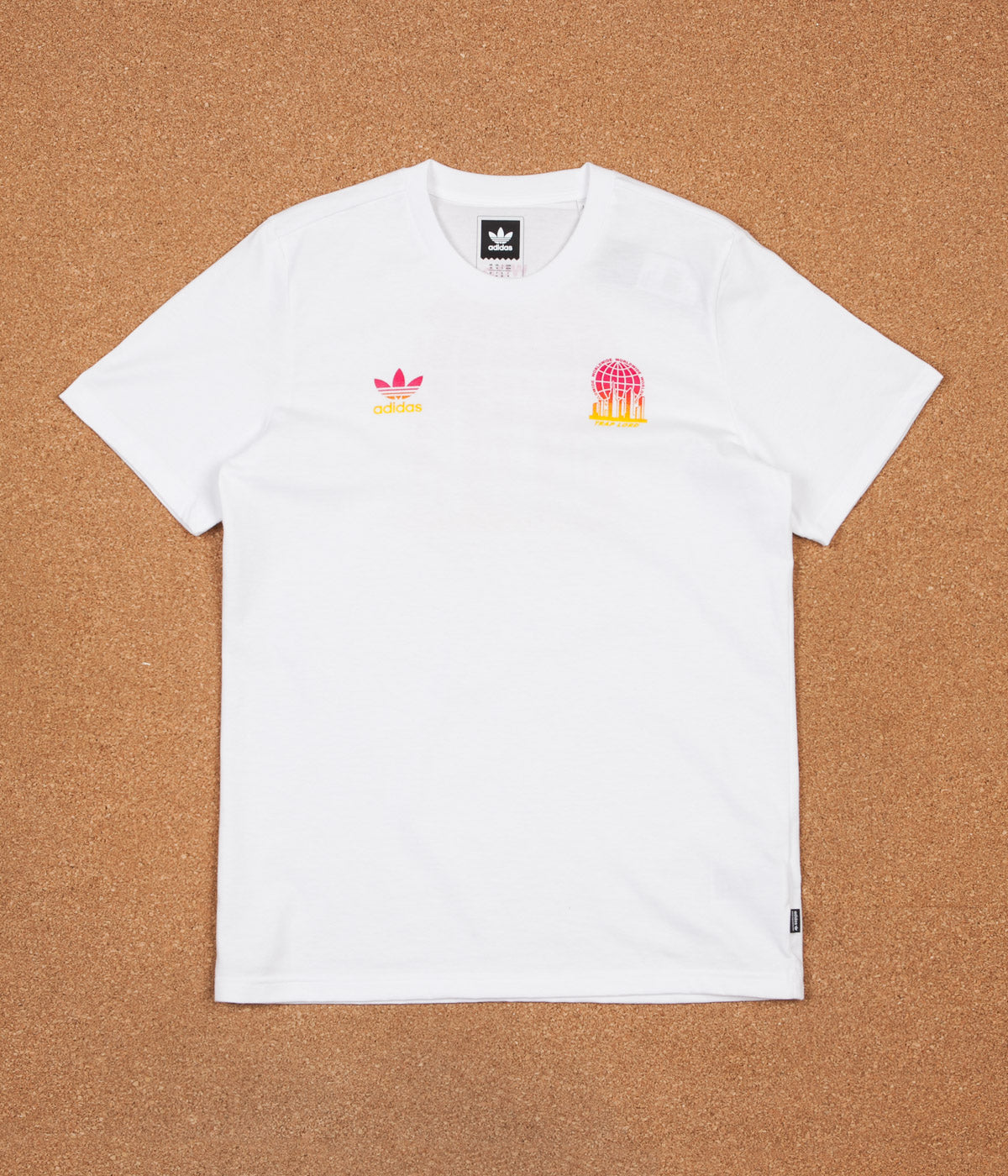 Adidas x Trap Lord Ferg T-Shirt - White / EQT Yellow / Bold Pink