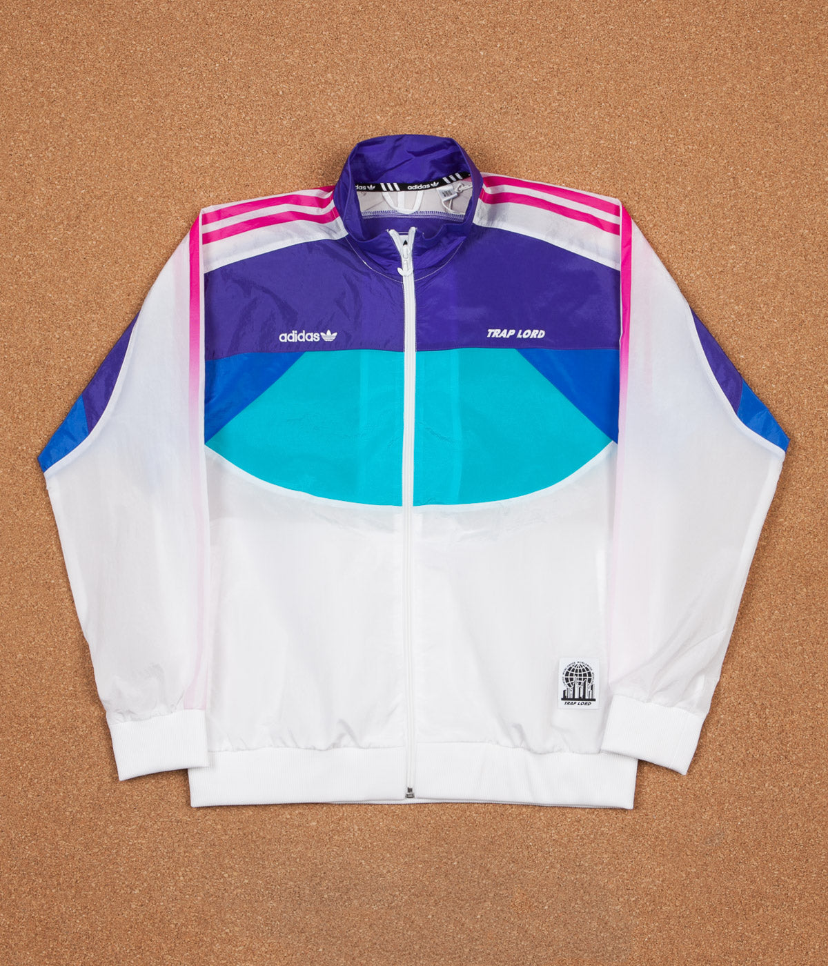 Adidas x Trap Lord Ferg Windbreaker Jacket - White / Energy Ink / Blue / Energy Blue