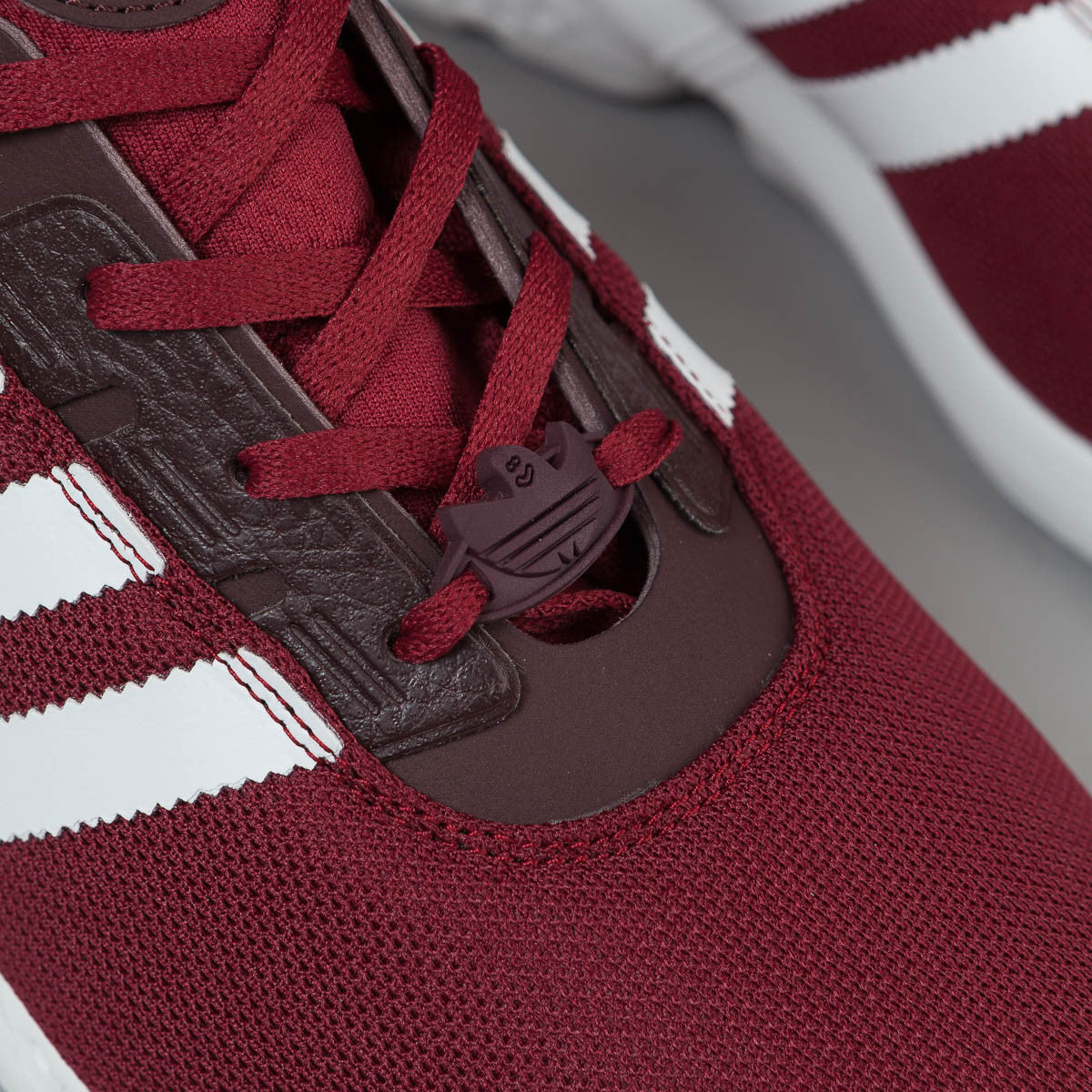 Adidas ZX Gonz Shoes - Burgundy / FTW White / NGT Red