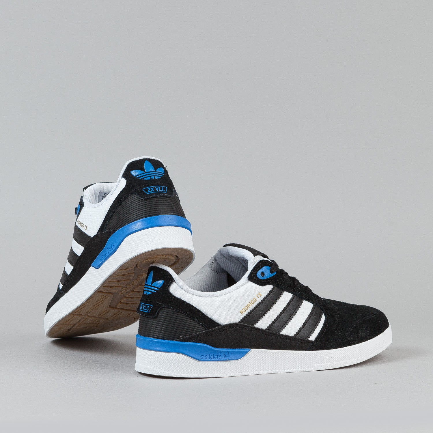 Adidas ZX Vulc Rodrigo TX Shoes - Core Black / White / Bluebird