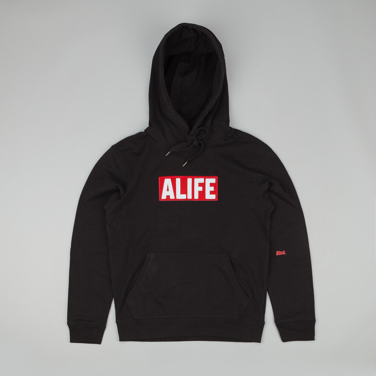 Alife Basic Stuck Up Pullover Hooded Sweatshirt - Black