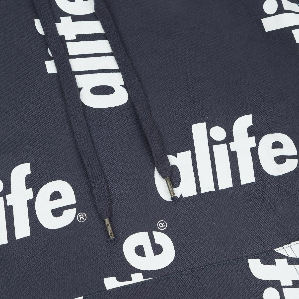 Alife Core Allover Hooded Sweatshirt - Eclipse Blue