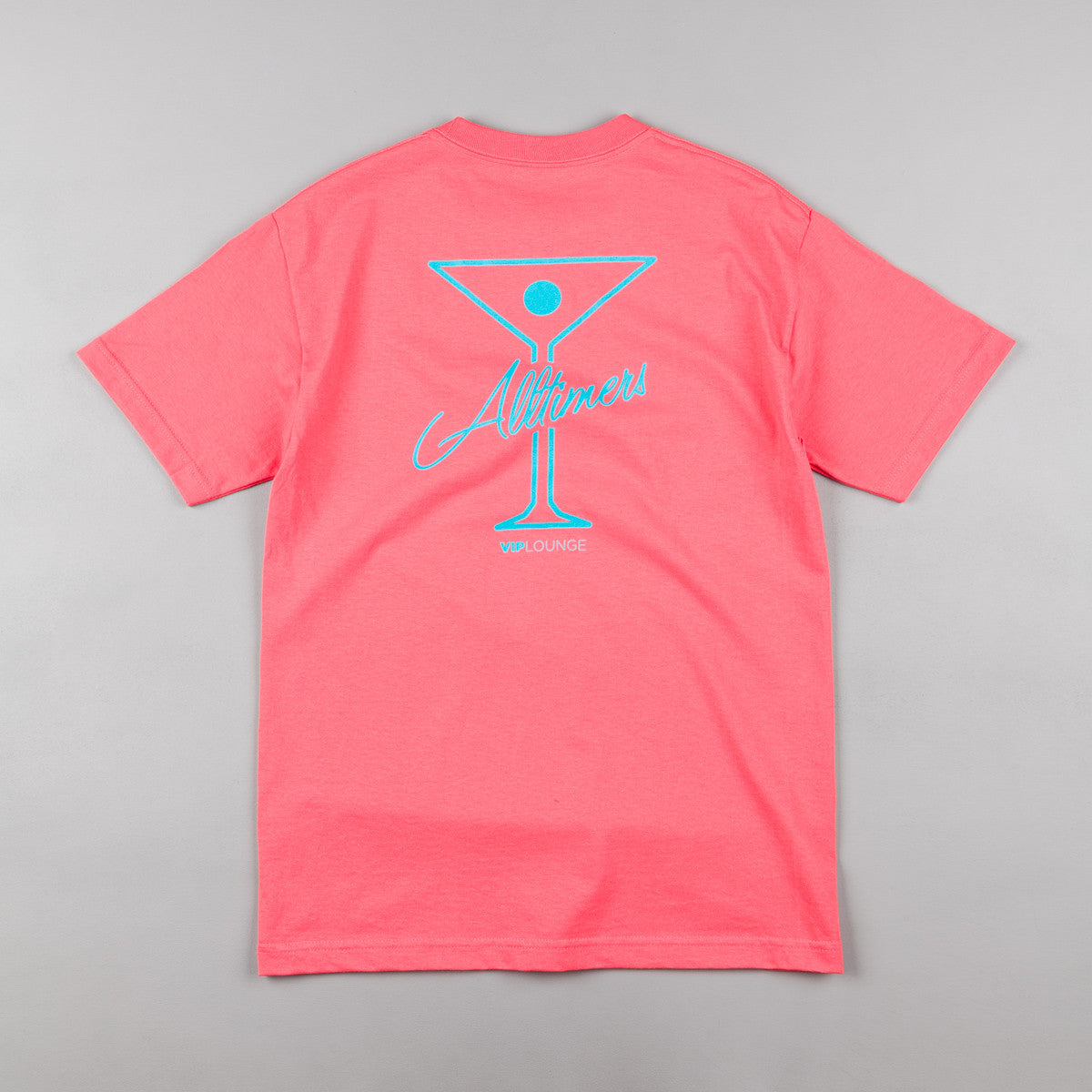 Alltimers Logo T-Shirt - Coral / Turquoise