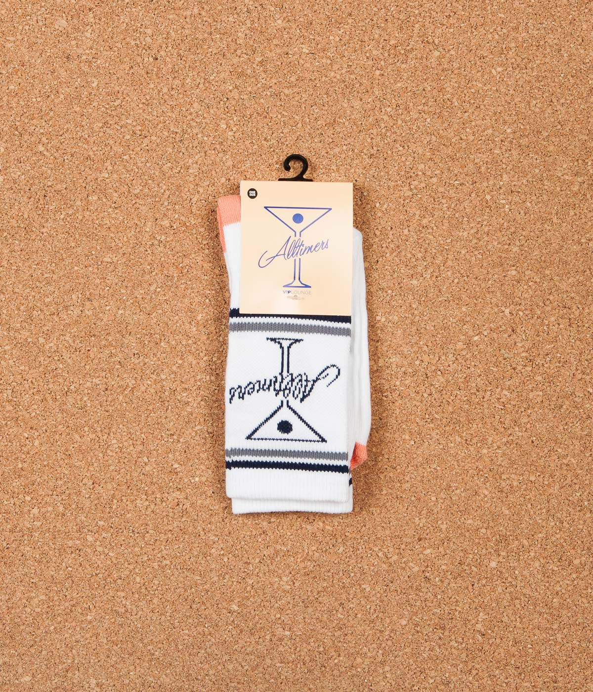 Alltimers Logo Socks - White / Peach