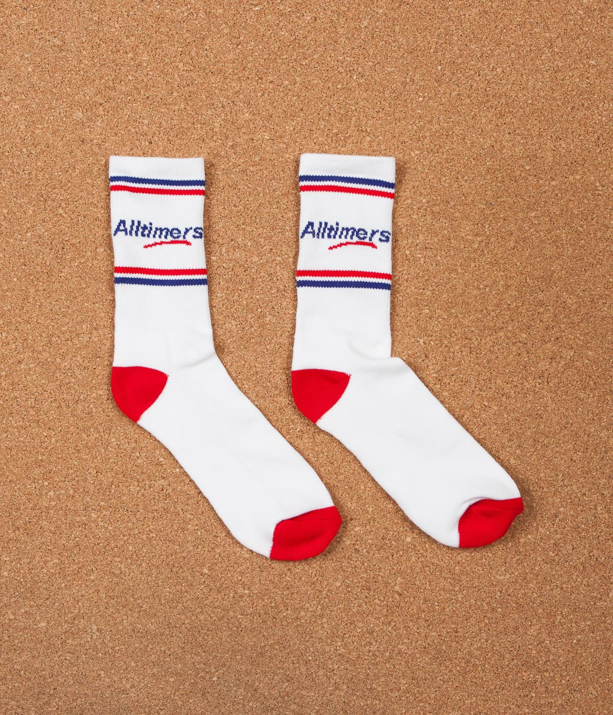 Alltimers Logo Socks - White / Red
