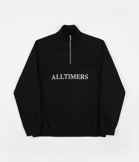 Alltimers Nextel Quarter Zip Sweatshirt - Black