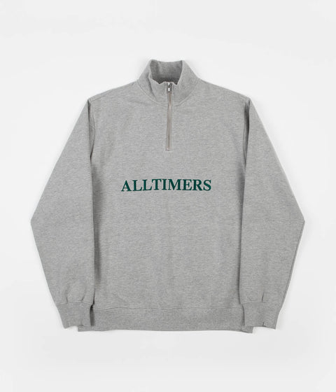 Alltimers Nextel Quarter Zip Sweatshirt - Heather Grey