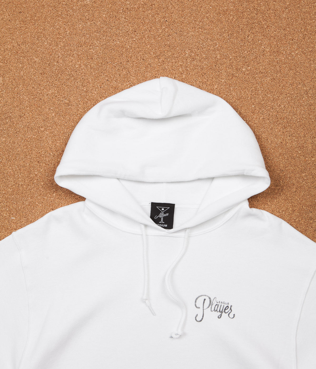 All white hoodie