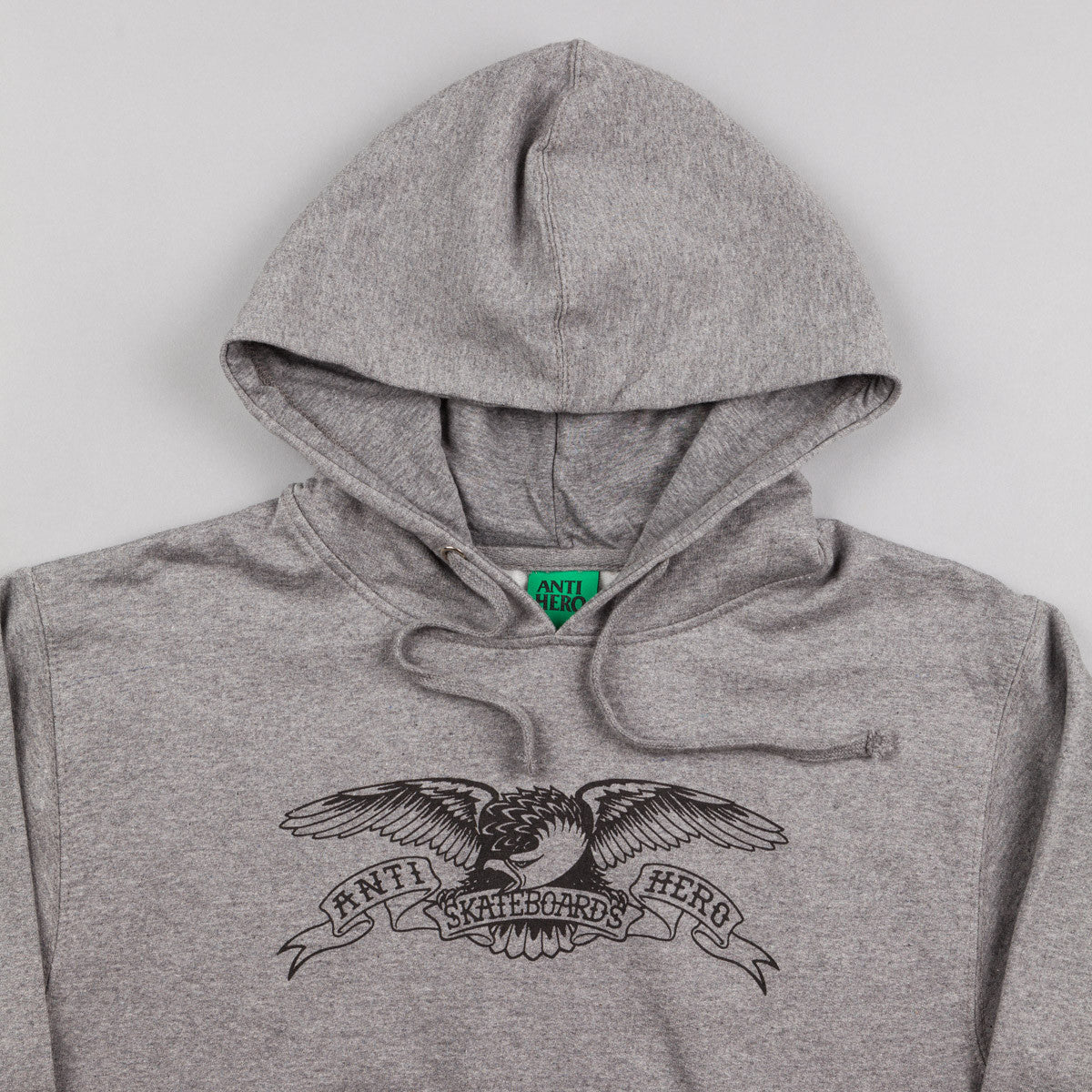 Anti Hero Basic Eagle Hooded Sweatshirt - Gunmetal Heather
