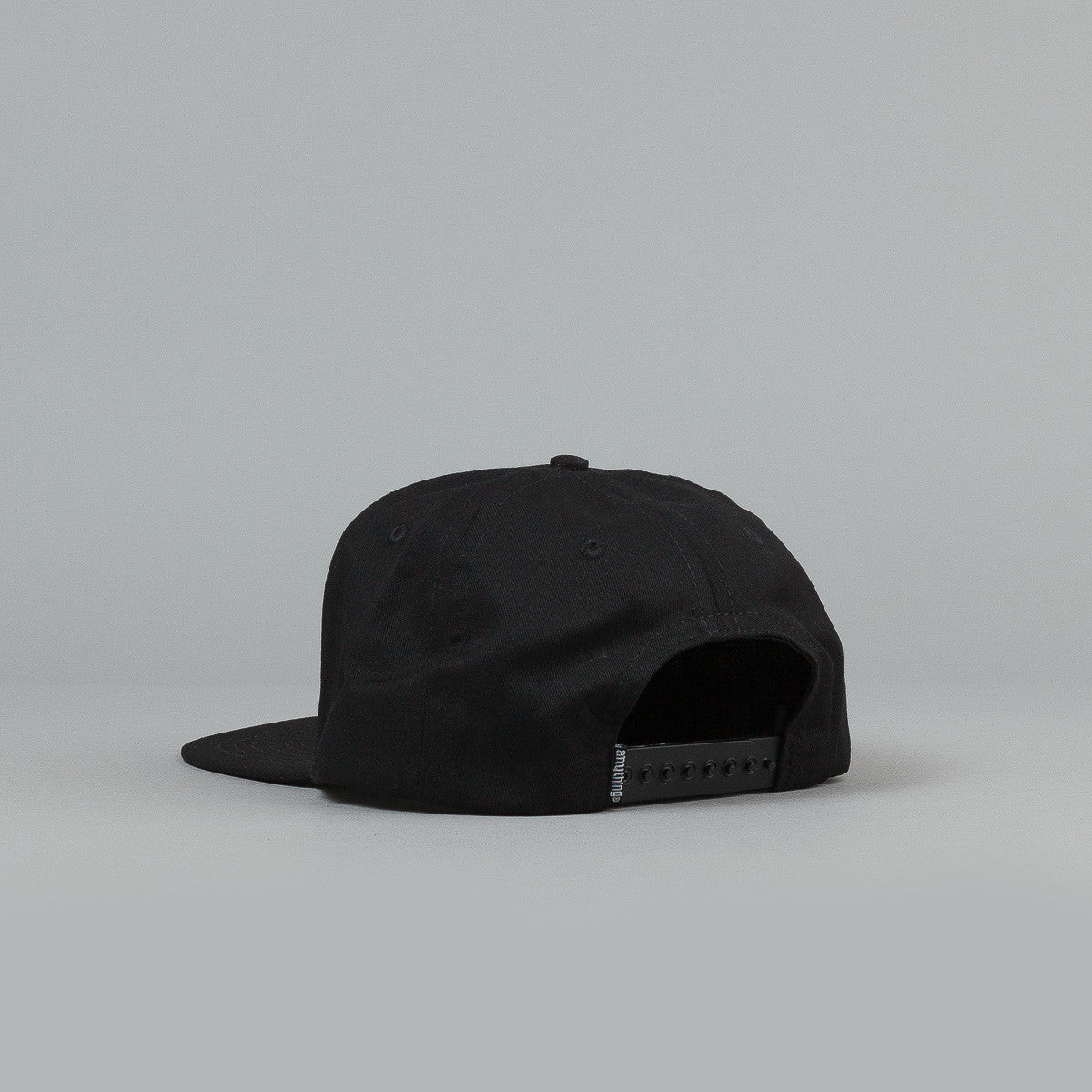 Anything Square Logo Snapback Cap Black