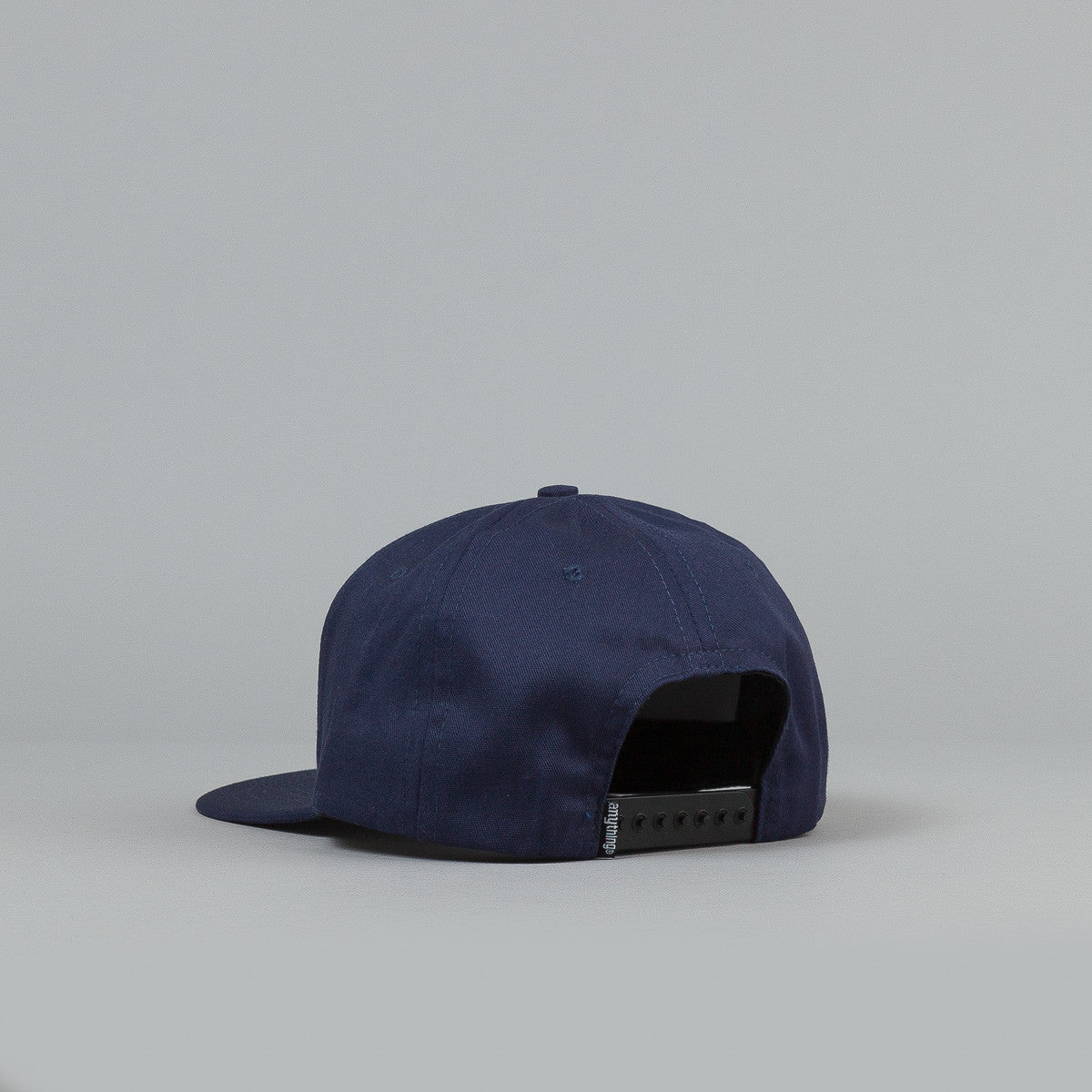 Anything Square Logo Snapback Cap Navy