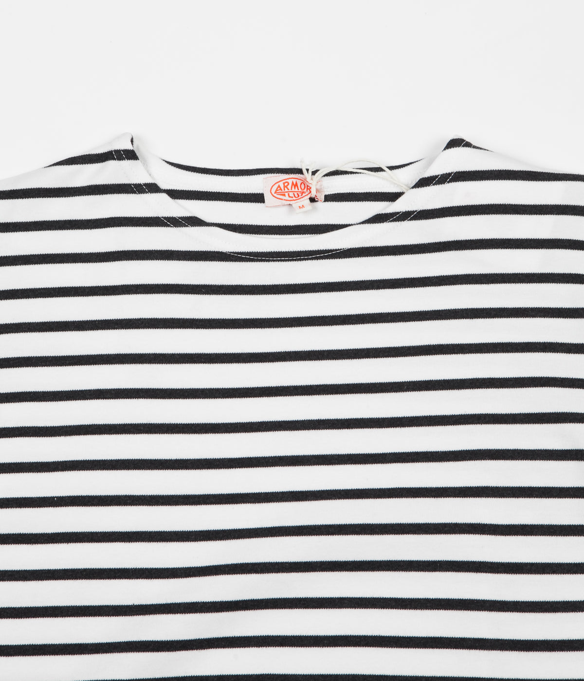 Armor Lux Breton Long Sleeve T-Shirt - Milk / Ebony