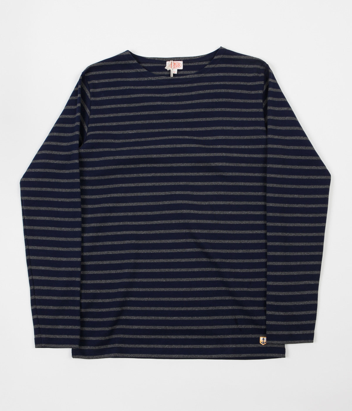 Armor Lux Breton Long Sleeve T-Shirt - Seal / Asfalto
