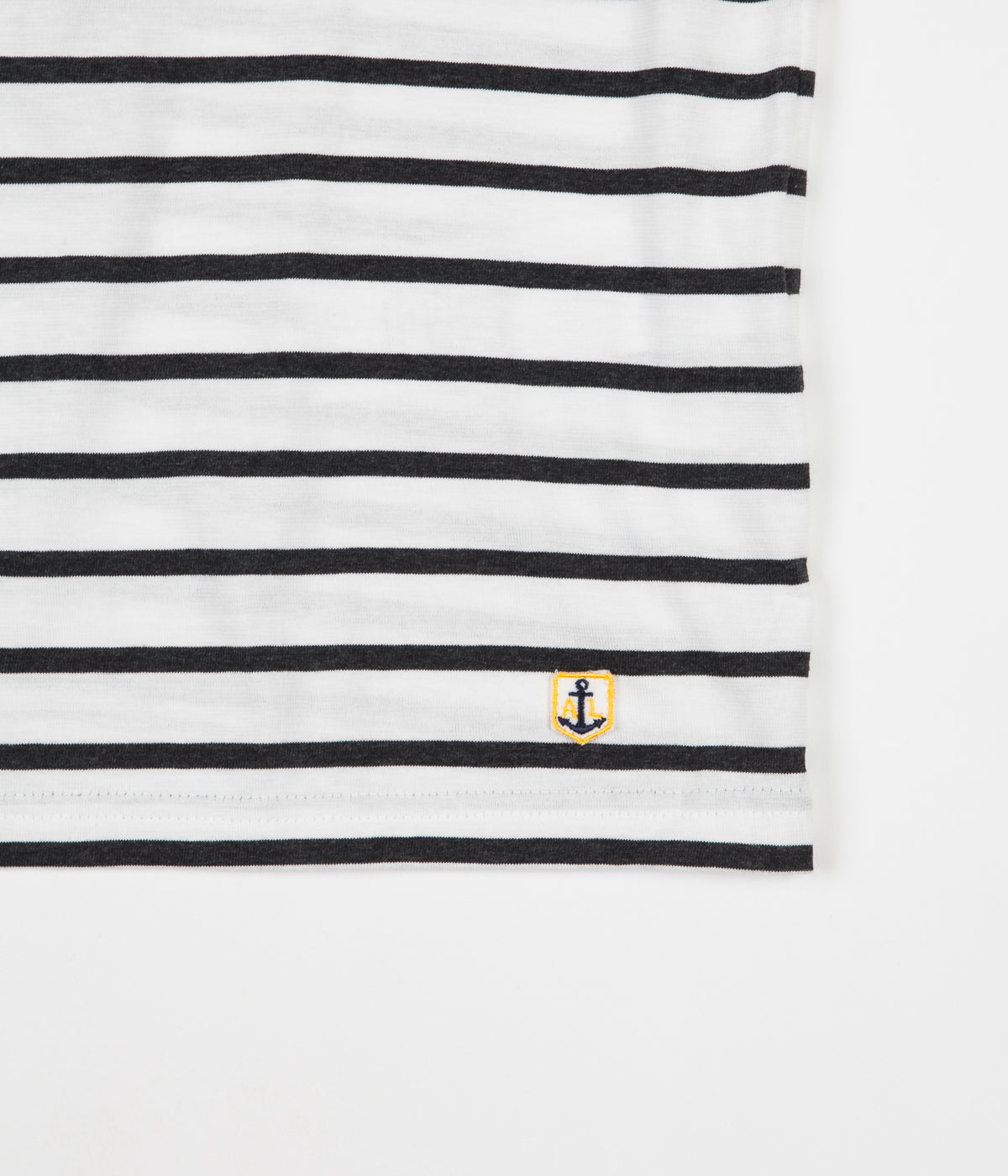 Armor Lux Breton Sailor Striped T-Shirt - Milk / Ebony