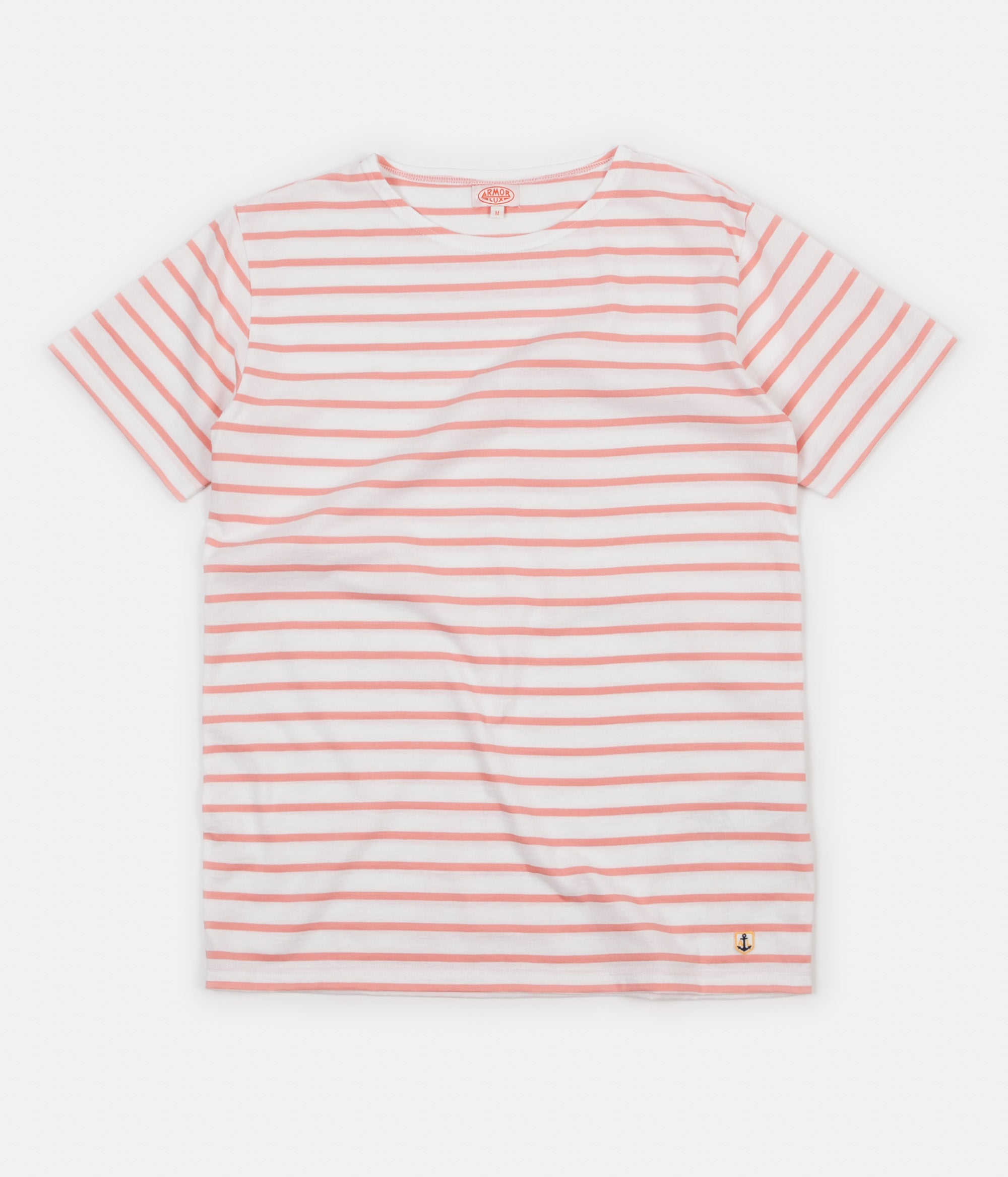 Armor Lux Breton Sailor Striped T-Shirt - Milk / Power