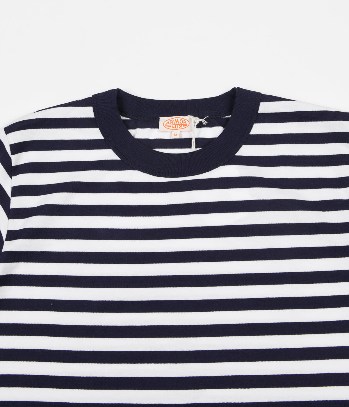Armor Lux Heritage Striped Heavy Cotton T-Shirt - Navy / White