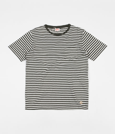 Armor Lux Heritage Striped Pocket T-Shirt - Aquilla / Nature