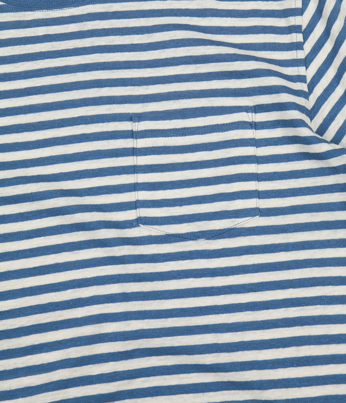 Armor Lux Heritage Striped Pocket T-Shirt - Moody Blue / Nature