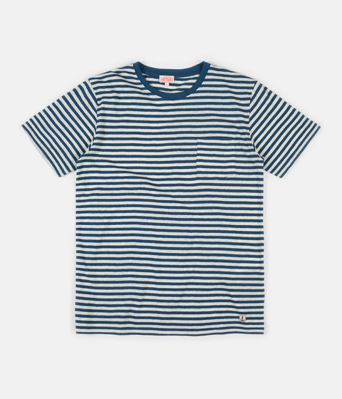 Armor Lux Heritage Striped Pocket T-Shirt - Twilight / Nature