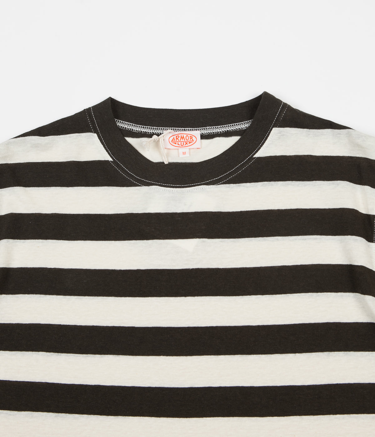 Armor Lux Heritage Striped Round Collar T-Shirt - Aquilla / Nature