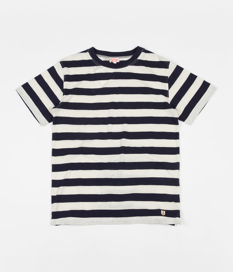 Armor Lux Heritage Striped Round Collar T-Shirt - Navy / Nature