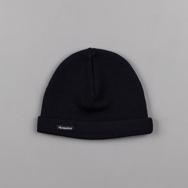 Armor Lux Plain Fisherman Beanie - Navy Blue