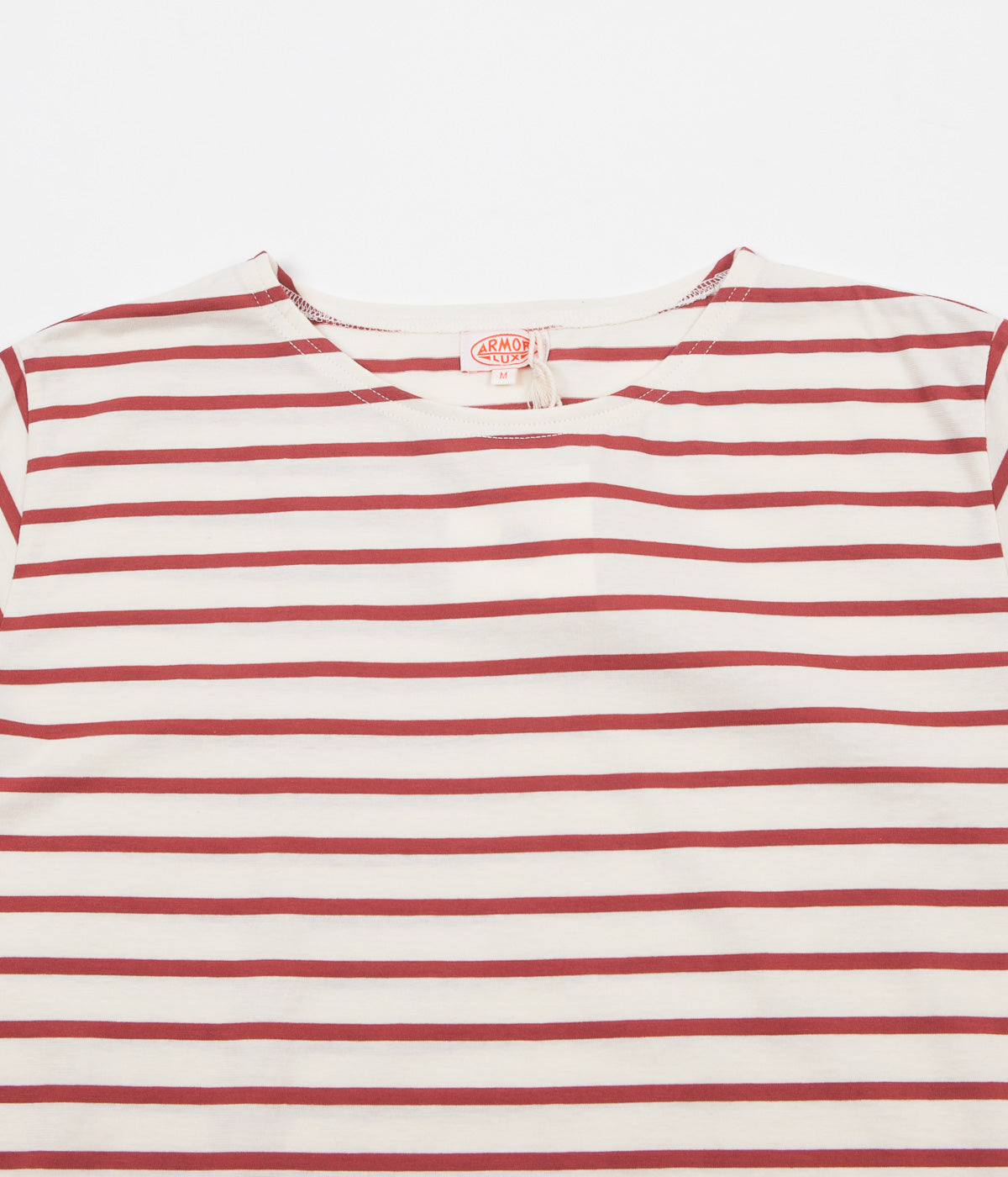 Armor Lux Striped Breton T-Shirt - Nature / Red Manganese