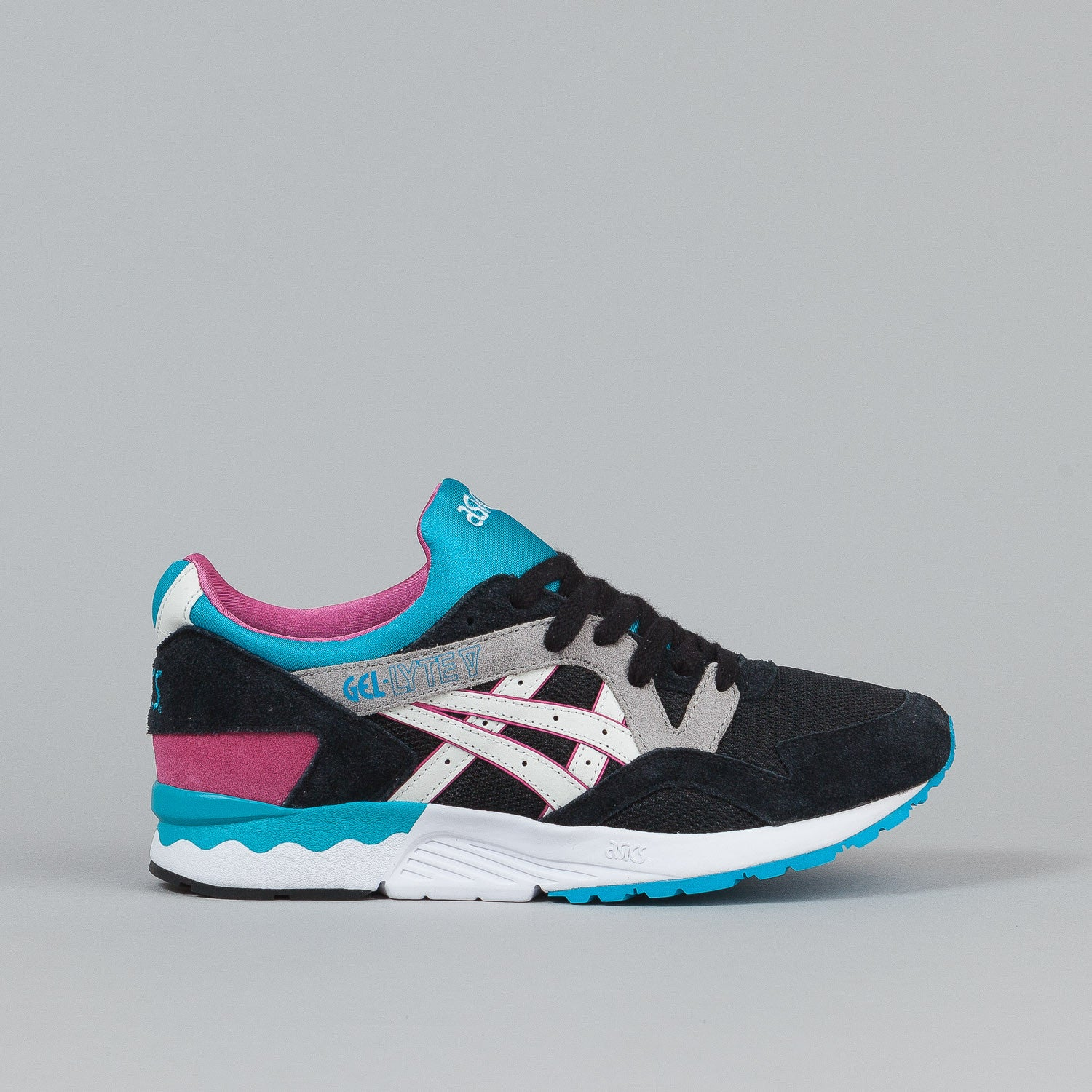 Asics Gel Lyte V Shoes - Black / White / Pink / Light Blue