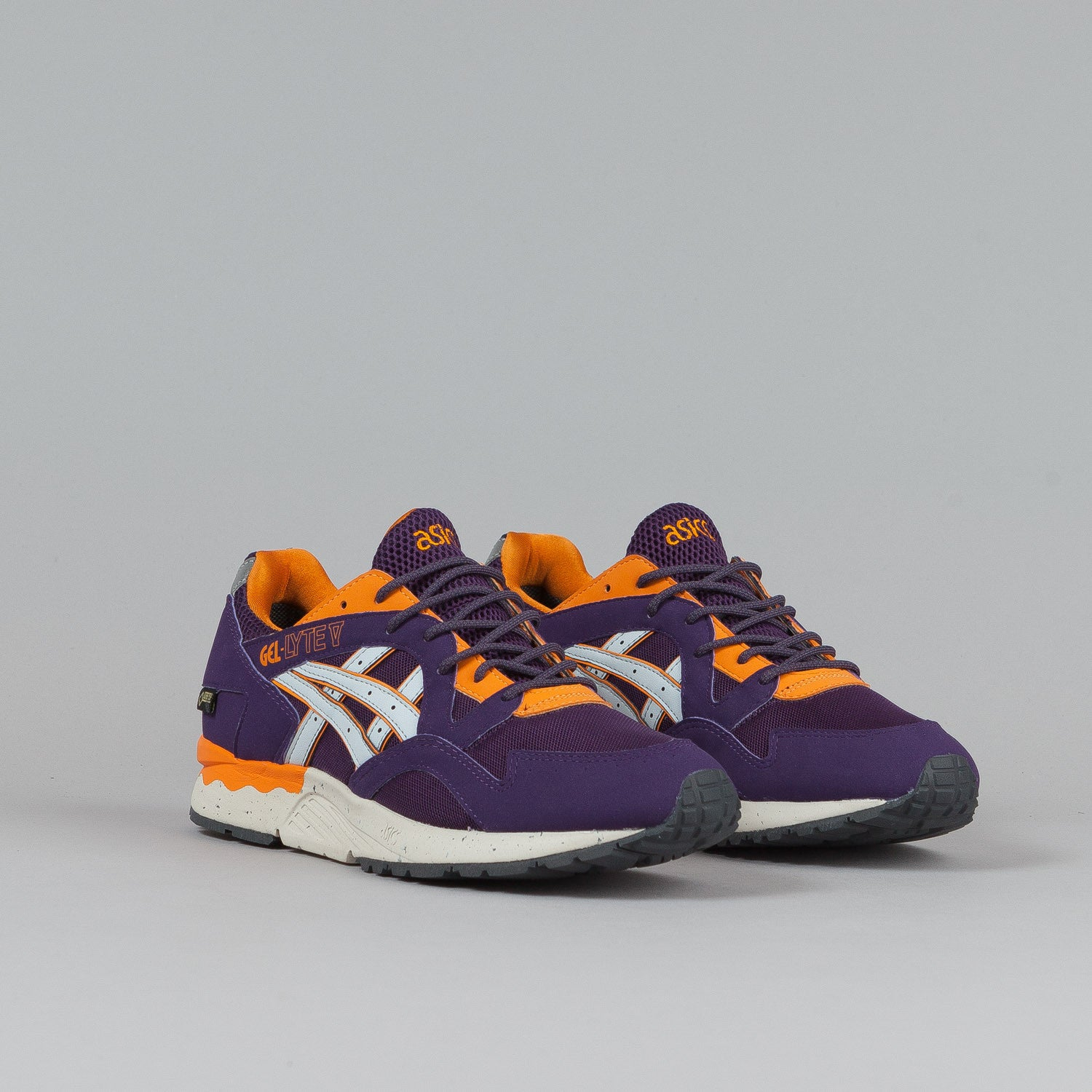 Asics Gel Lyte V Shoes Purple / Soft Grey (Gore Tex)
