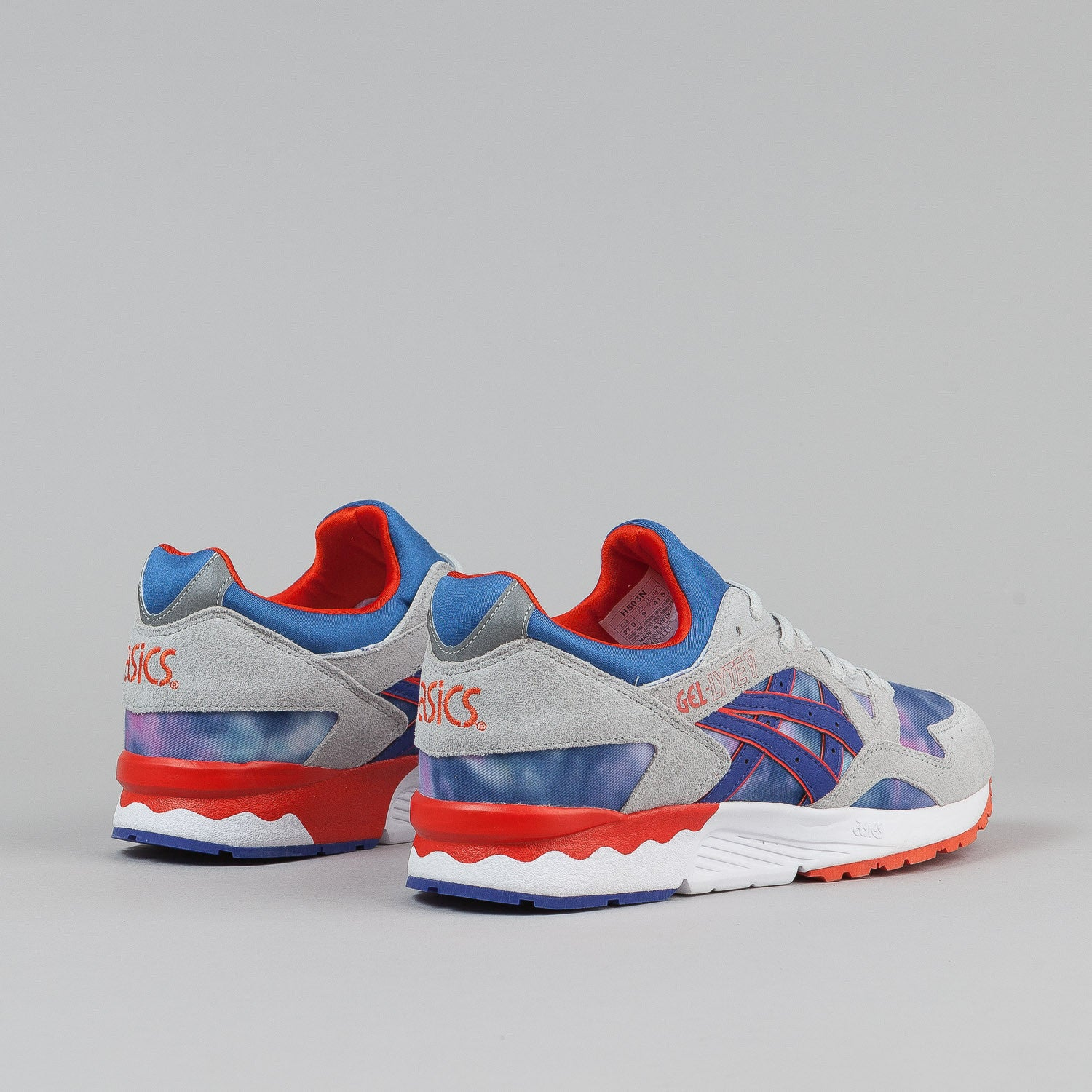 Asics Gel Lyte V Shoes - Tie Dye / Dark Blue