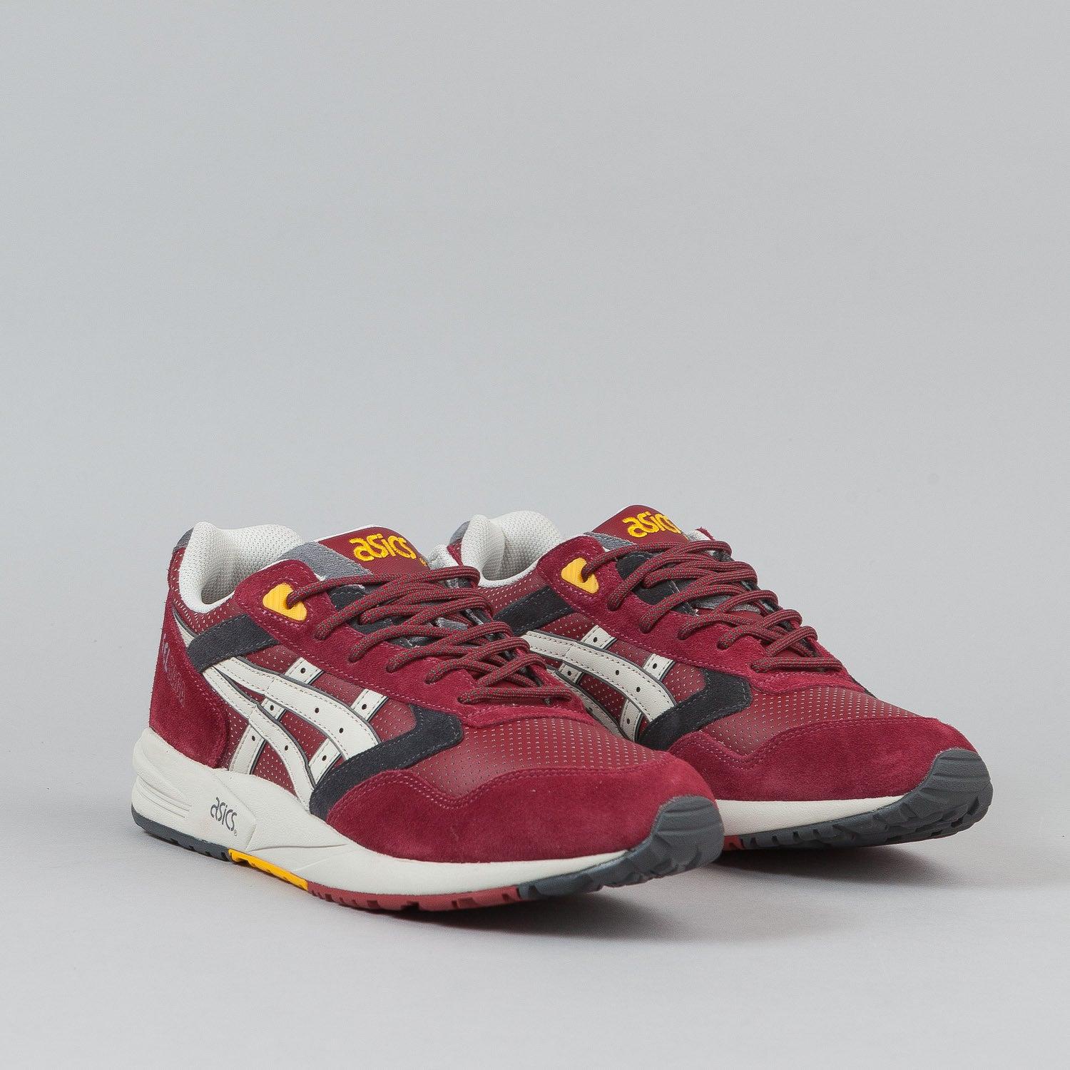 Asics Gel Saga Shoes 'Outdoor' - Burgundy / Off White