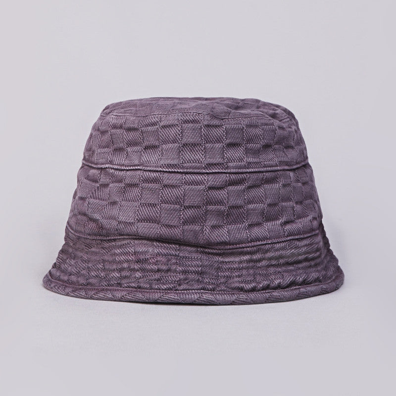 Axs Bucket Hat Plum Checkered