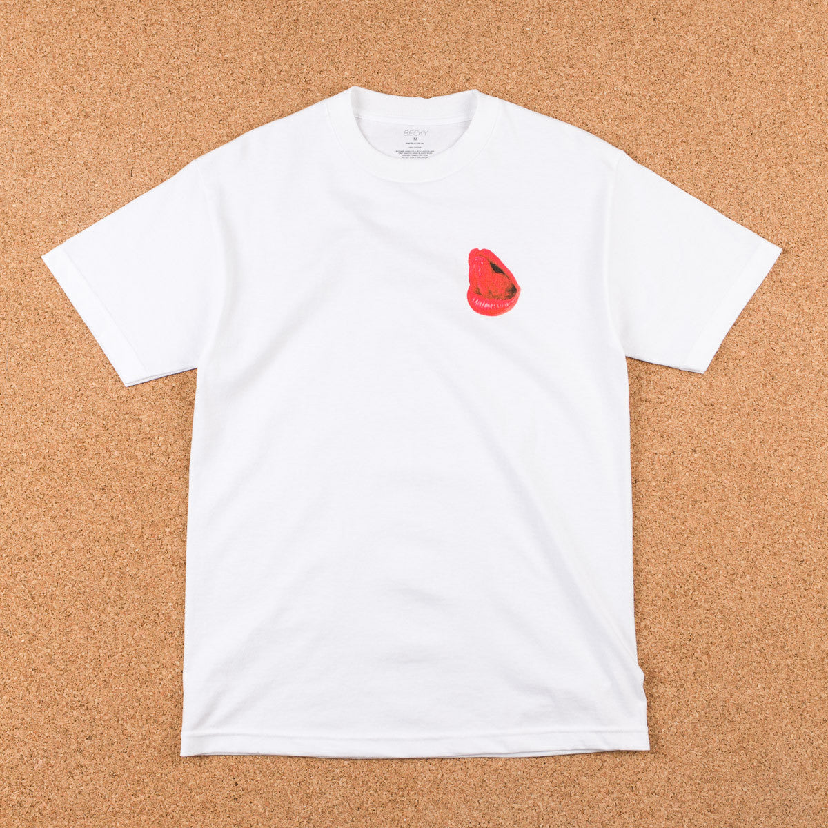 Becky Factory Lips T-Shirt - White