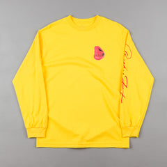 Becky Factory Lips Long Sleeve T-Shirt - Yellow