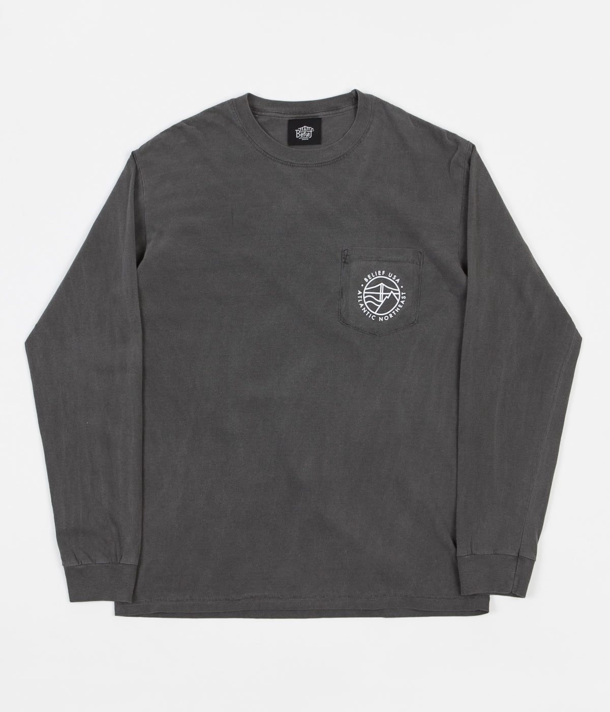 Belief Atlantic Long Sleeve Pocket T-Shirt - Pepper