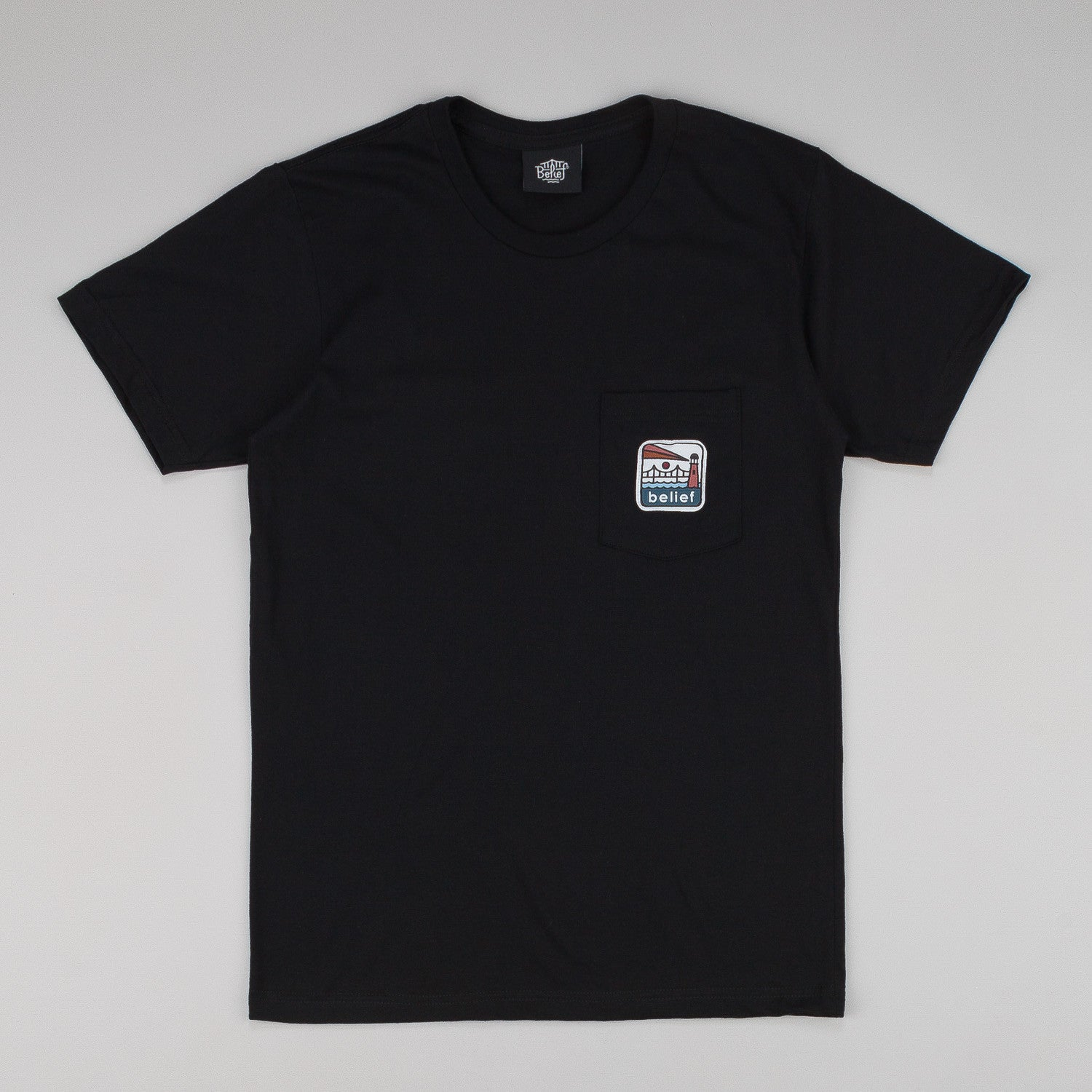 Belief Atlantic Pocket T-Shirt - Black